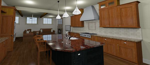 craftsman custom kitchen