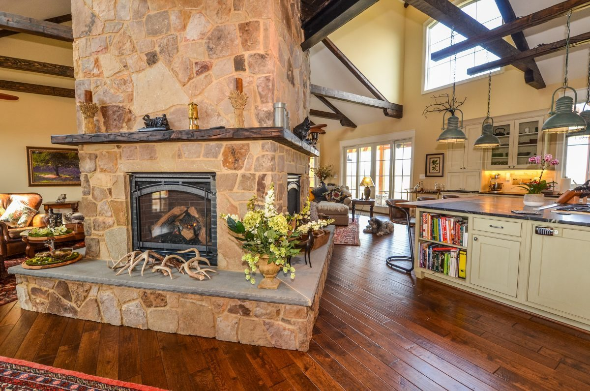 Middleburg 4-sided fireplace