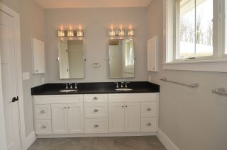 Contemporary Master Bath his and hers sinks