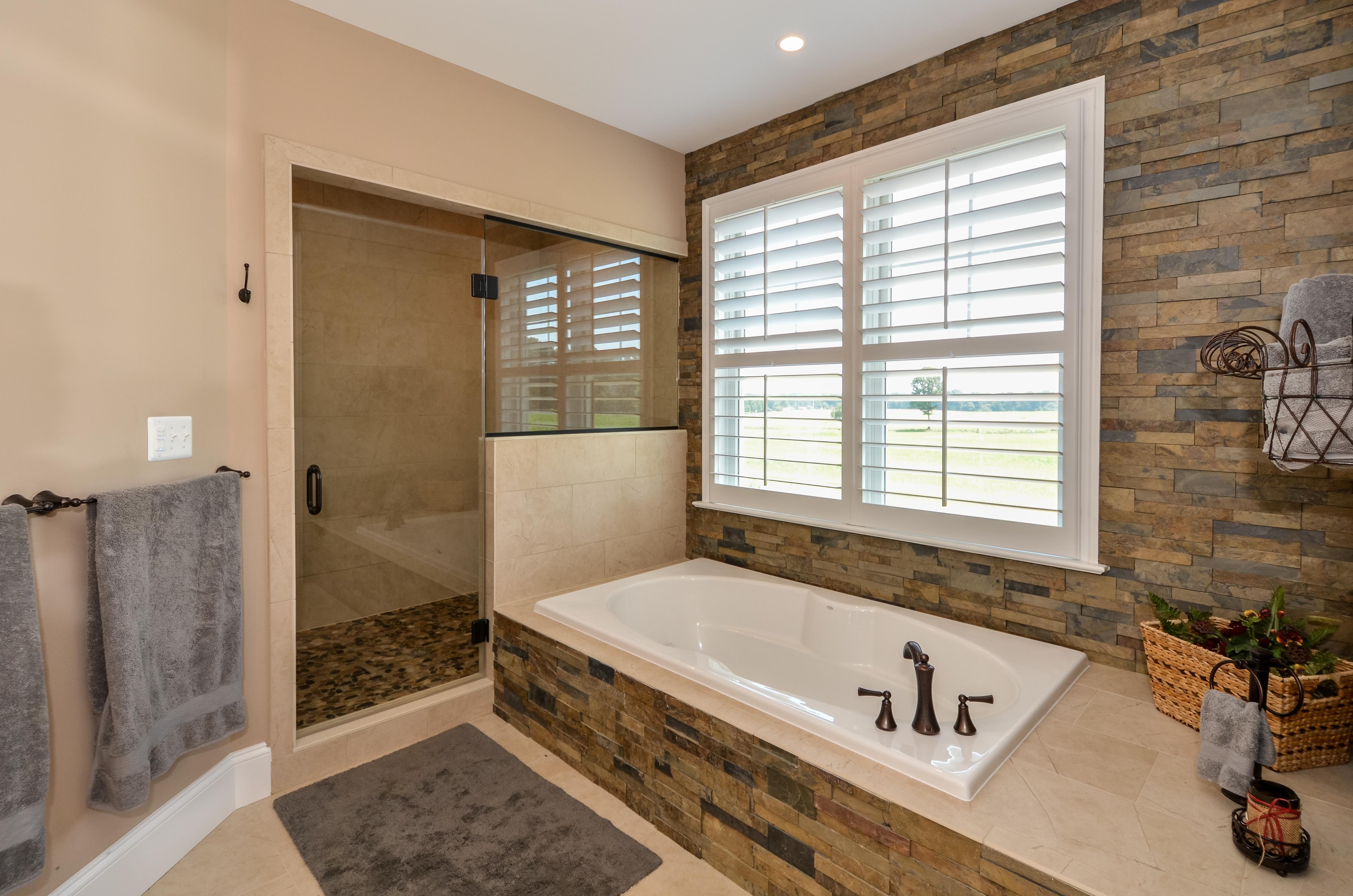 master bath stonework