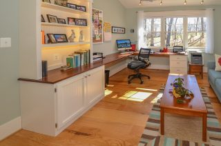 Desk built from local wood by Fairhaven