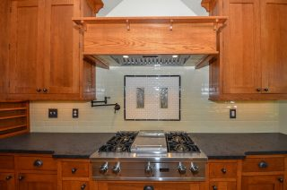 Kitchen hood made from local wood by Fairhaven