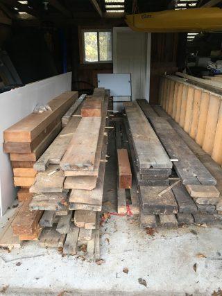 Raw wood materials