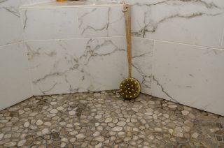 Master Bathroom tiling close-up